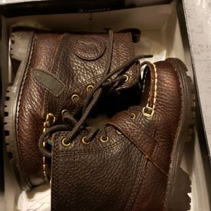 Polo boys leather boots - NWT